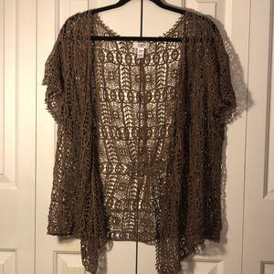 Crochet Cardigan -plus women's 18/20
